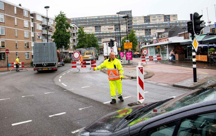 Klokslag 12.00 uur ging de binnenstad van Tilburg op slot.