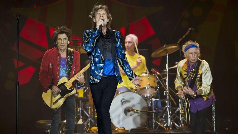 The Rolling Stones tijdens de Olé-tour door Zuid-Amerika. Beeld afp
