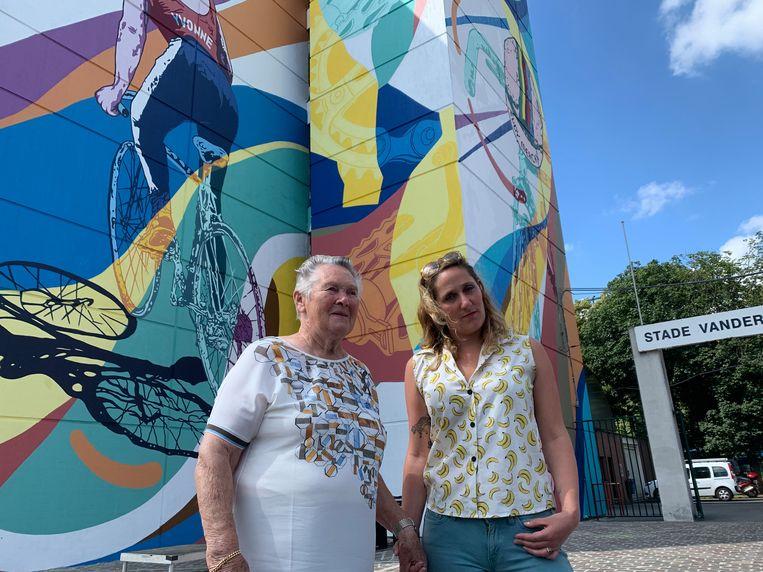 Nieuwe muurschildering eert de fiets, Eddy Merckx, maar vooral Yvonne Reynders