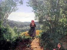 Heeft vrouw op schilderij uit 1860 een iPhone met dating-app in haar handen?