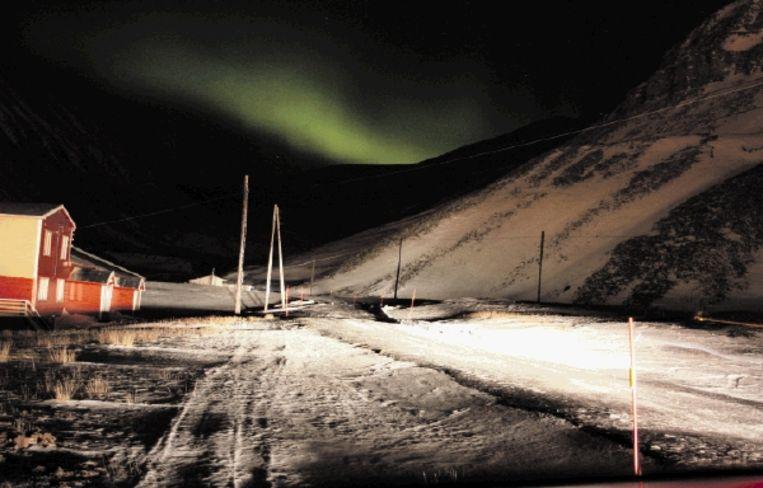 Het fascinerende noorderlicht helpt de bewoners van Svalbard de lange, duistere winter door te komen. (Trouw) Beeld