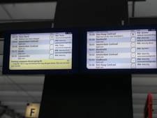 NS zet alle treinen stil, veel schade aan het spoor