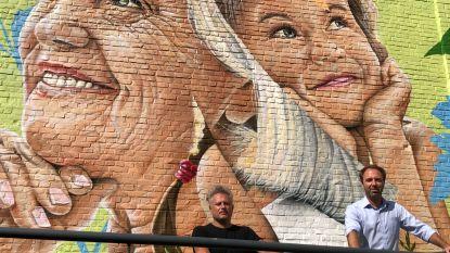 Muurschildering voor jong en oud: SMOK verbindt jeugddienst met woonzorgcentrum