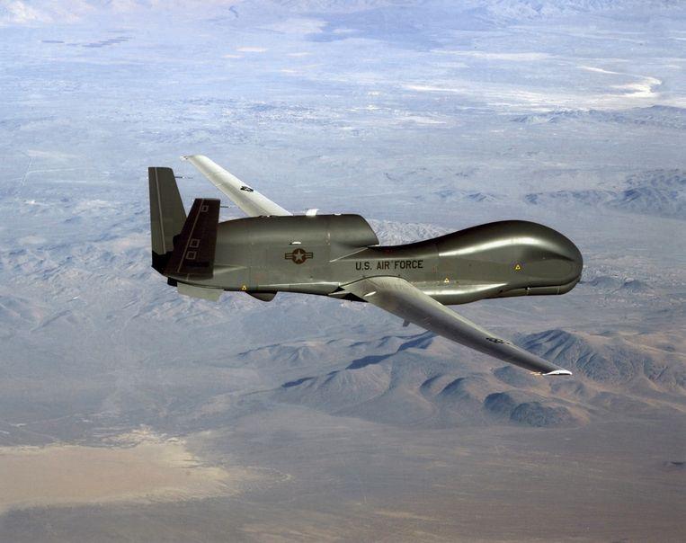 De RQ-4 Global Hawk drone die Iran neerschoot. Beeld AFP