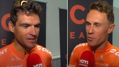 """VIDEO. Van Avermaet en Pauwels over ploegentijdrit: """"Al sinds trainingskamp in december mee bezig"""""""