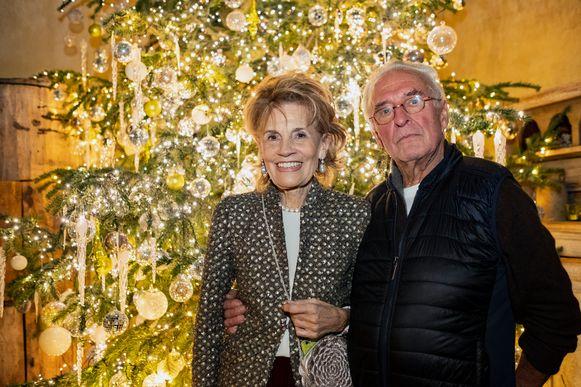 Roger Souvereyns met zijn vrouw Walda Pairon op zijn verjaardagsfeestje in Kalmthout.