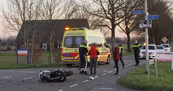 Motorrijder ernstig gewond bij ongeval met auto in Beltrum.