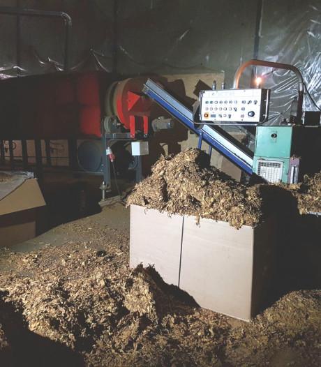 Illegale tabaksfabriek ontdekt in loods Dongen