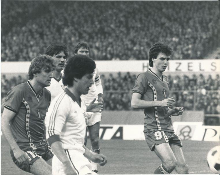 Met een 2-1-zege tegen Oost-Duitsland zet België een grote stap richting EK 1984. Ludo Coeck maakt de 2-1 met een geweldig afstandsschot.