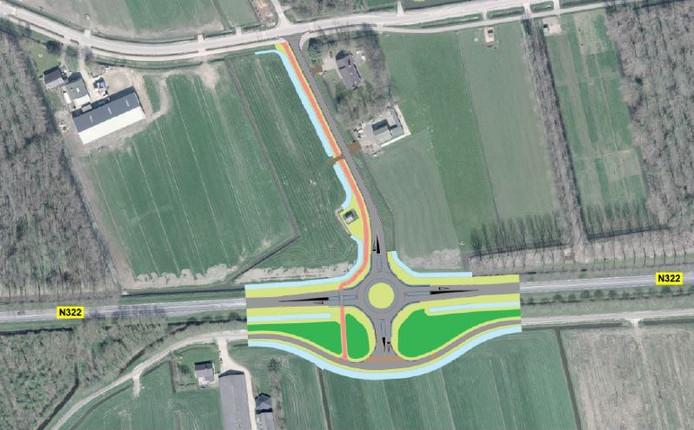 Om verkeer van en naar de tuinbouwbedrijven te leiden komt er als het aan de provincie Gelderland ligt een rotonde op de N322 ter hoogte  van de Startstraat bij Nieuwaal.