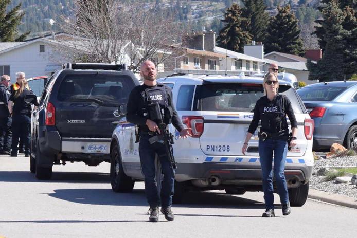 Canadese politie ter plaatse.