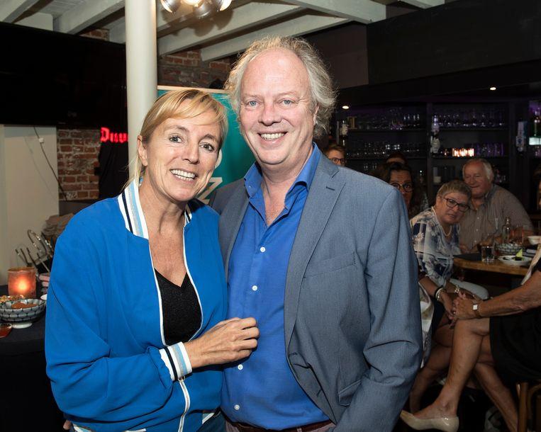 An met haar man, acteur Guido De Craene. Zijn dochter Roxanne beviel twee weken geleden van een zoontje, Ziggy.
