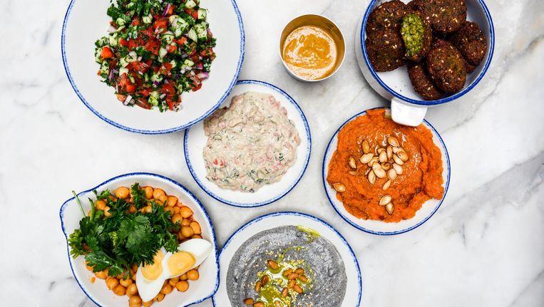 Uit de keuken van Nacarat komen Midden-Oosterse gerechtjes om te delen. Beeld Nacarat