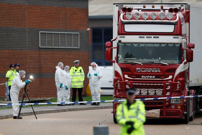 In deze koelwagen werden eind oktober 2019 in Essex de lichamen van 39 Vietnamezen gevonden.