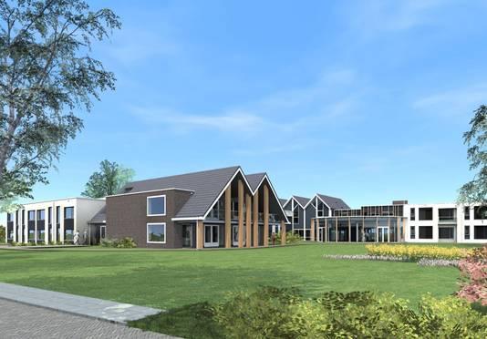 Het ontwerp van de nieuwbouw van de zorglocatie Hof van Blom aan de gelijknamige straat in het centrum van Hattem.