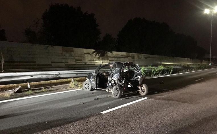 Auto met pech aangereden op A10. Beeld Politie Team Hoofdwegen