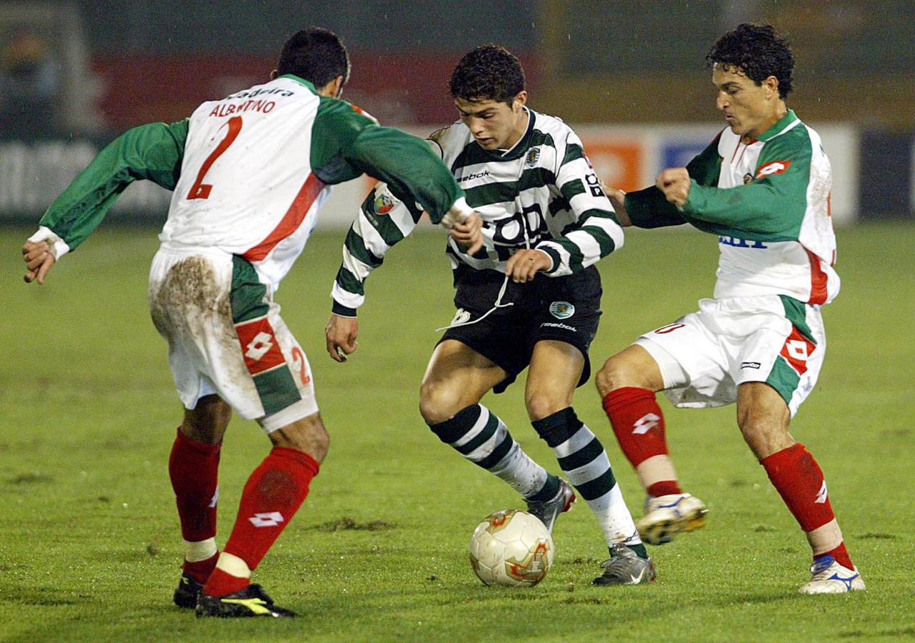 Cristiano Ronaldo al speler van Sporting.