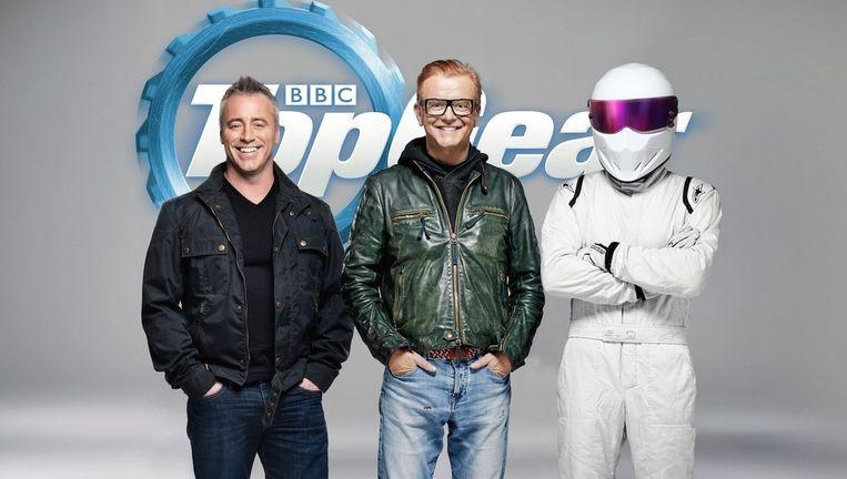 Matt LeBlanc, Chris Evans en The Stig. Beeld BBC