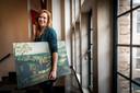 Marianne Splint, toen nog druk bezig met de voorbereidingen van de Lucas Gassel-tentoonstelling,
