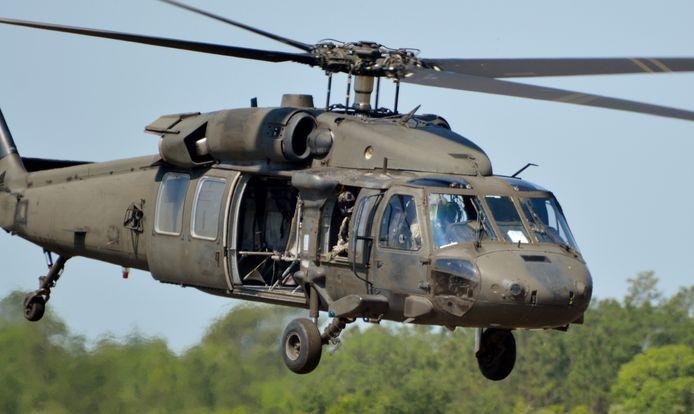Een UH-60 Black Hawk helikopter van het type dat in Minnesota is neergestort.
