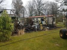 Grote tent op camping in Winterswijk volledig uitgebrand