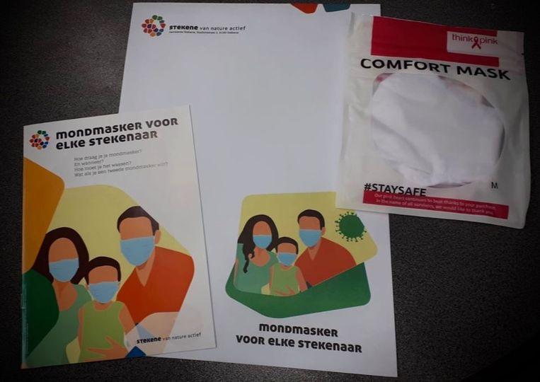 In de andere Wase gemeenten worden de mondmaskers momenteel al verdeeld, zoals in Stekene.