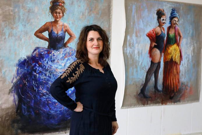 Dorien van den Tol uit Beek in haar atelier in Nijmegen.