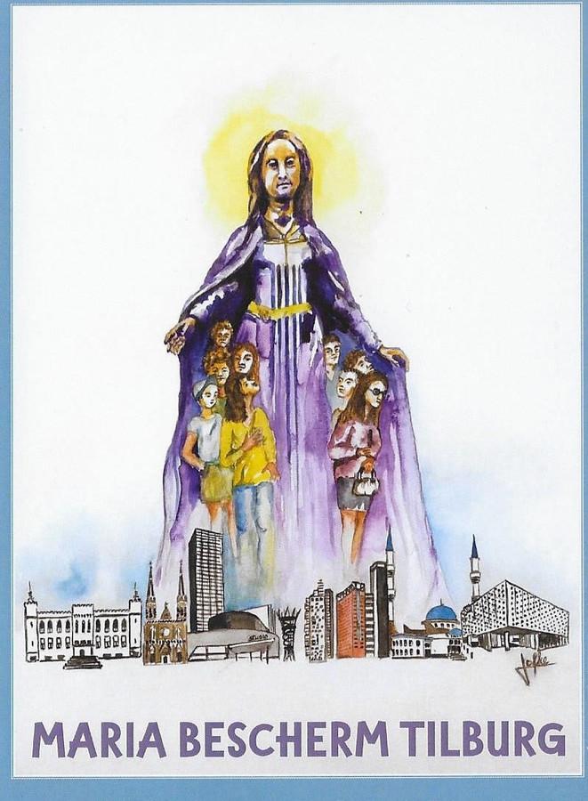 Maria Bescherm Tilburg, het nieuwe devotieprentje van de Hasseltse Kapel en Kapel OLV ter Nood