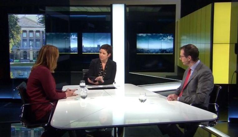 Gwendolyn Rutten (Open VLD) en Wouter Beke (CD&V) in Terzake vanavond