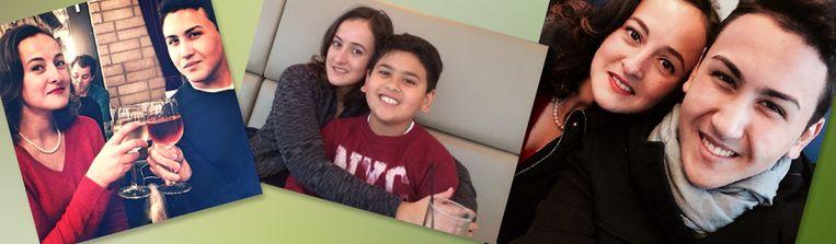 Shaka en Miguel op foto's die zijn toegezonden door nabestaanden. Beeld -