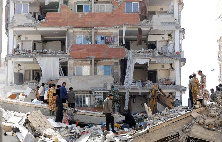 Aardbeving van 7.3 in Iran op 14 november 2017.