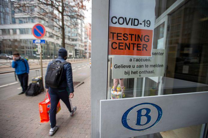 Centre de dépistage de la gare du Midi, à Bruxelles