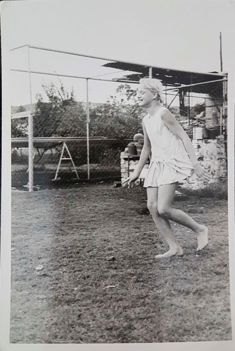 Tilana Stander op een jeugdfoto uit de jaren zeventig.  Beeld Privé-archief
