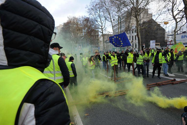 Vorige vrijdag legden de gele hesjes Brussel helemaal lam.