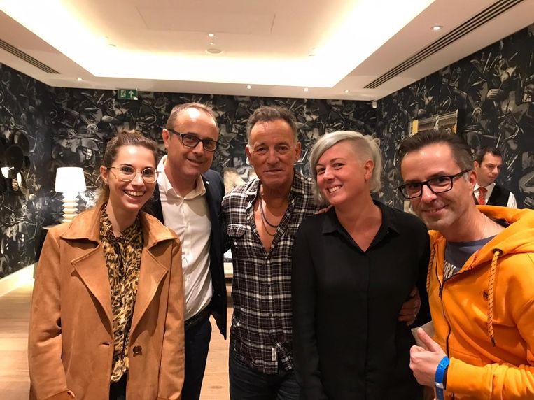 Bruce Springsteen (l.) en Isabelle Deridder.