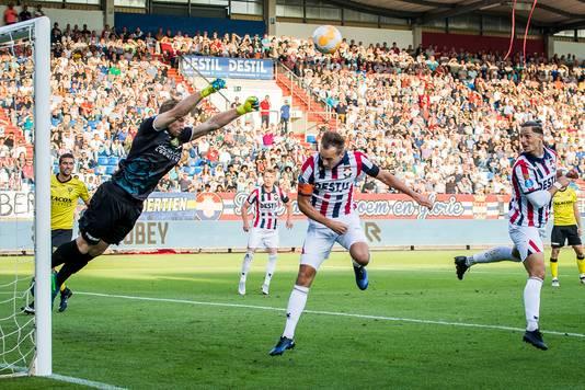 Fran Sol (r) in de wedstrijd van afgelopen zaterdag tegen Willem II.
