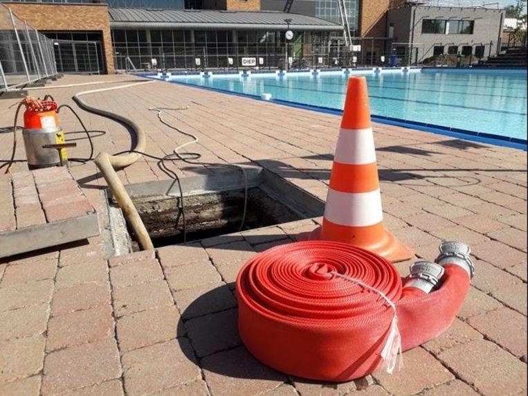 Werken zwembad Puyenbroeck.