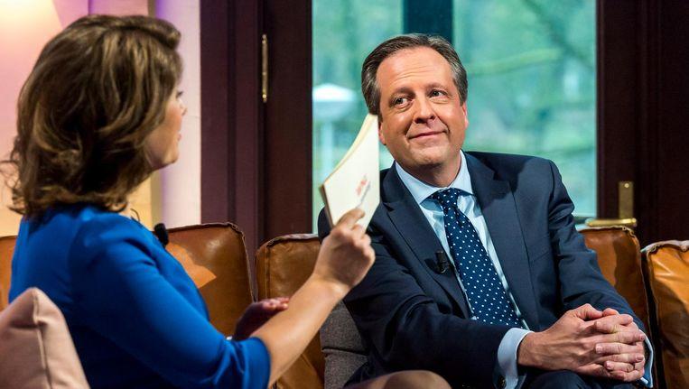 Alexander Pechtold (D66) zal tevreden kijken naar de Tilburgse peilmethode: zijn partij gaat erop vooruit. Beeld anp