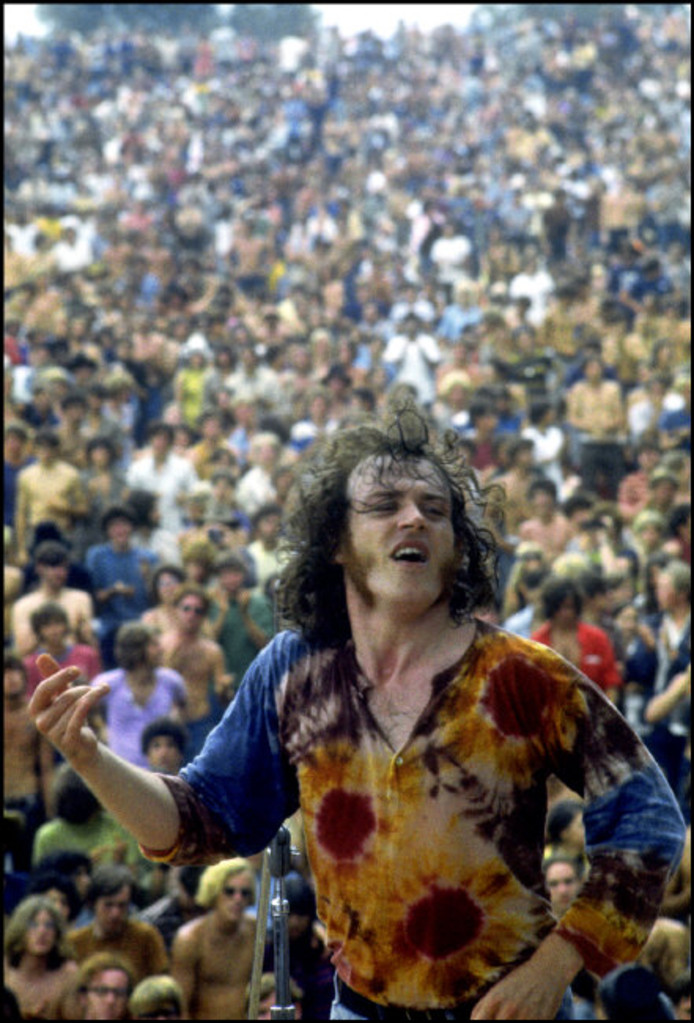 Joe Cocker op Woodstock in 1969.