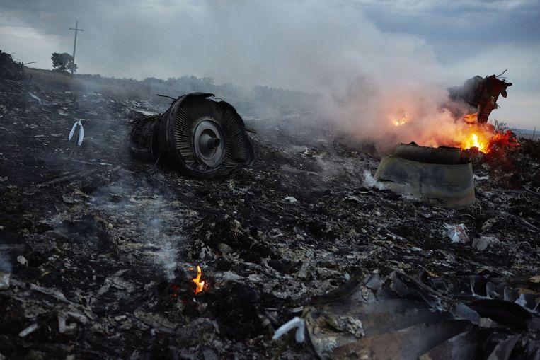 Wrakstukken van de MH17. Beeld ANP/Pierre Crom