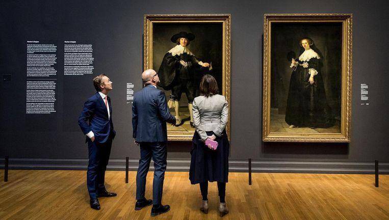 De portretten van Marten Soolmans en Oopjen Coppit vormen het middelpunt van de tentoonstelling Beeld anp