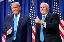 President Trump en zijn zeer conservatieve vicepresident Mike Pence.