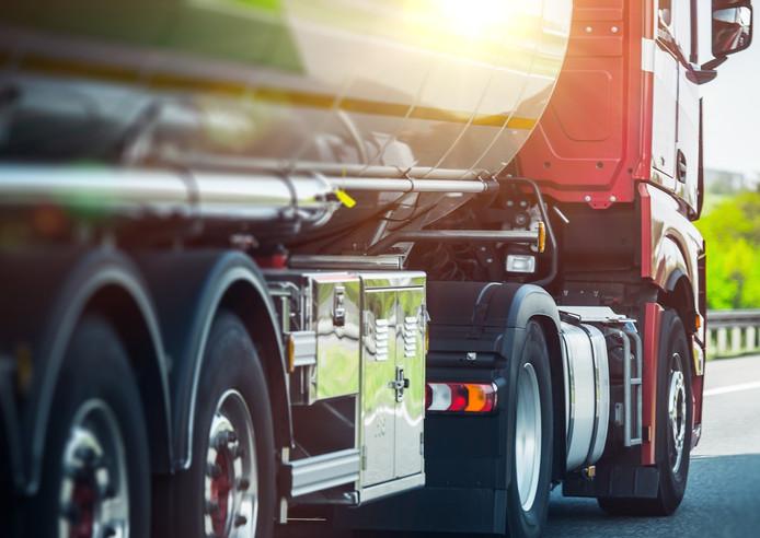 Stockfoto vrachtwagen.