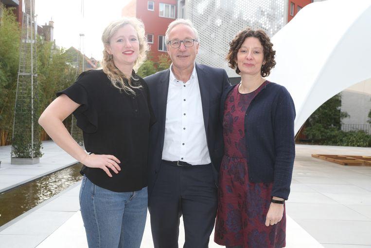De schepenen voor sp.a in Gent: Astrid De Bruycker, Rudy Coddens en Annelies Storms.