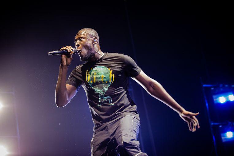 De Britse rapper Stormzy in de Afas Live in Amsterdam. Beeld Ben Houdijk