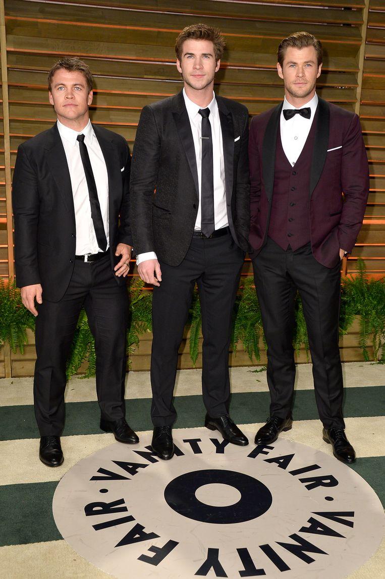 Van links naar rechts: Luke Hemsworth, Liam Hemsworth en Chris Hemsworth.