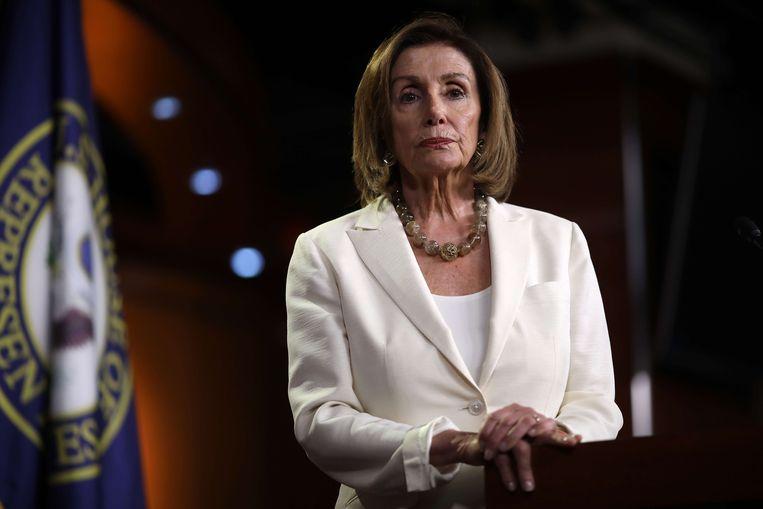 Nancy Pelosi wil dat de Democraten hun twisten intern regelen in plaats van erover te tweeten.