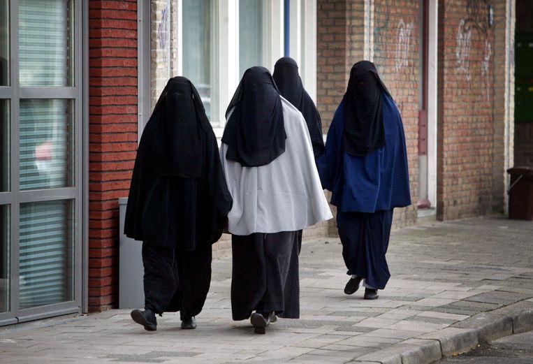 Gesluierde vrouwen in Utrecht. Beeld ANP