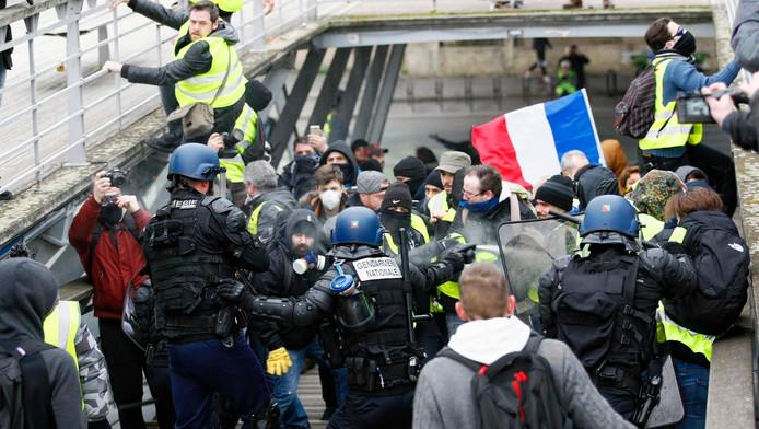 """L'""""acte VIII"""" samedi dernier à Paris (illustration)."""