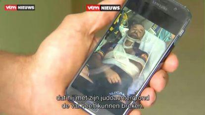 """Eerste beelden tonen verwrongen fiets en gehavende Tom Waes: """"De impact van de valpartij was enorm"""""""